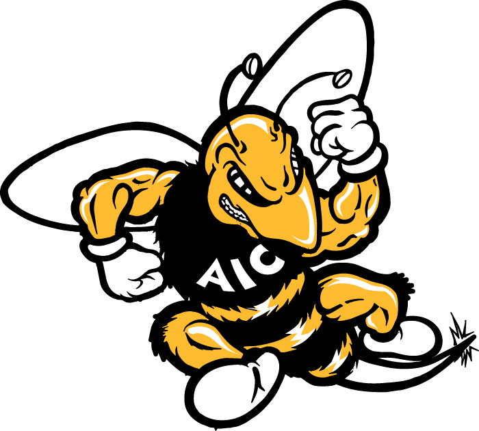 AIC Yellow Jackets 2001-2008 Primary Logo iron on transfers for clothing