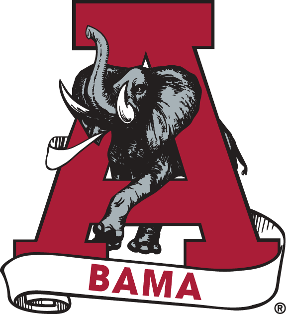 Alabama Crimson Tide 1974-2000 Secondary Logo iron on transfers for clothing