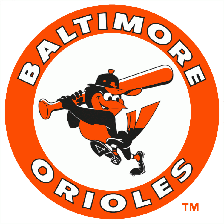 Baltimore Orioles 1989-1991 Primary Logo iron on transfers for clothing...