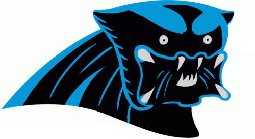 Carolina Panthers Halloween Logo iron on transfers