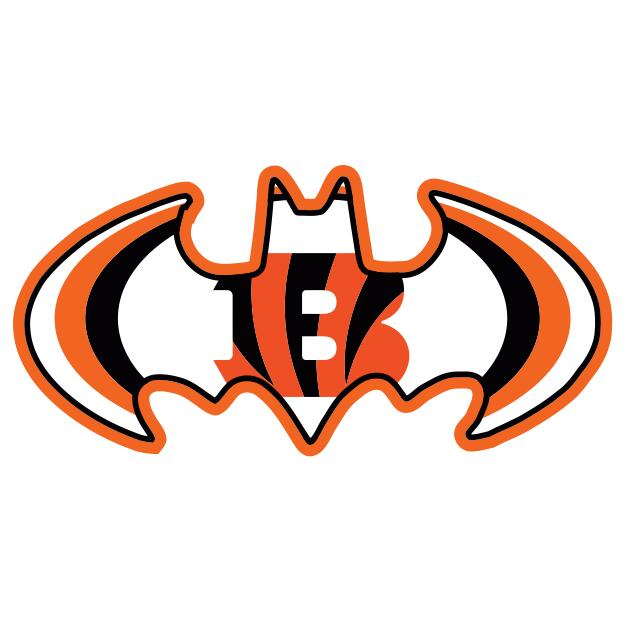 Cincinnati Bengals Batman Logo iron on transfers