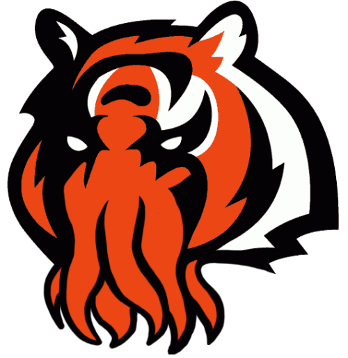 Cincinnati Bengals Halloween Logo iron on transfers