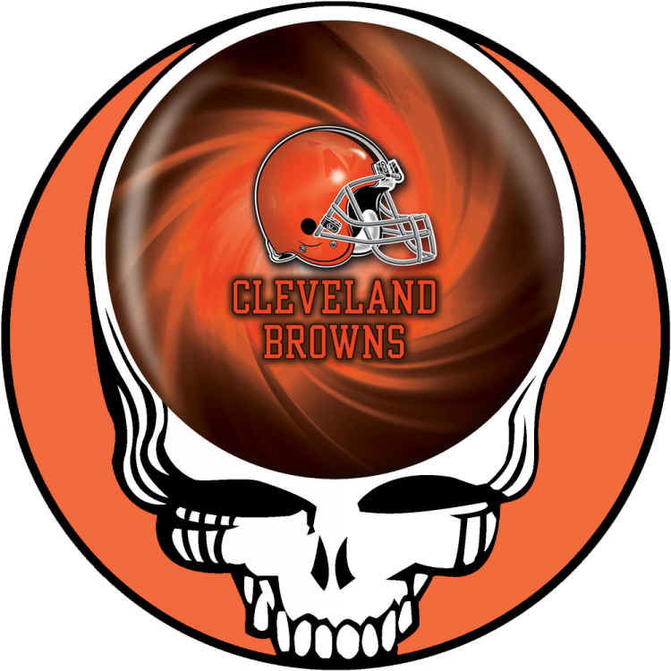 Cleveland Browns skull logo iron on transfers