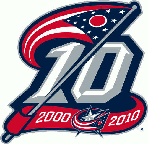 Columbus Blue Jackets 2011 Anniversary Logo iron on transfers for clothing