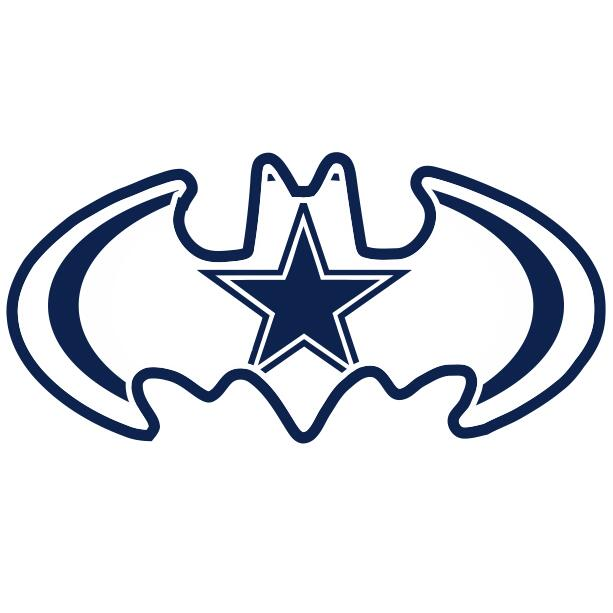 Dallas Cowboys Batman Logo iron on transfers