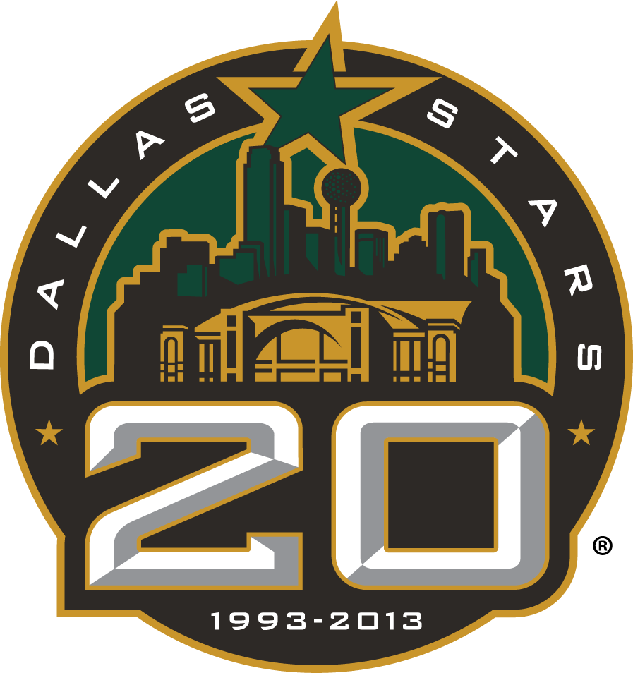 Dallas Stars 2013 Anniversary Logo iron on transfers for clothing