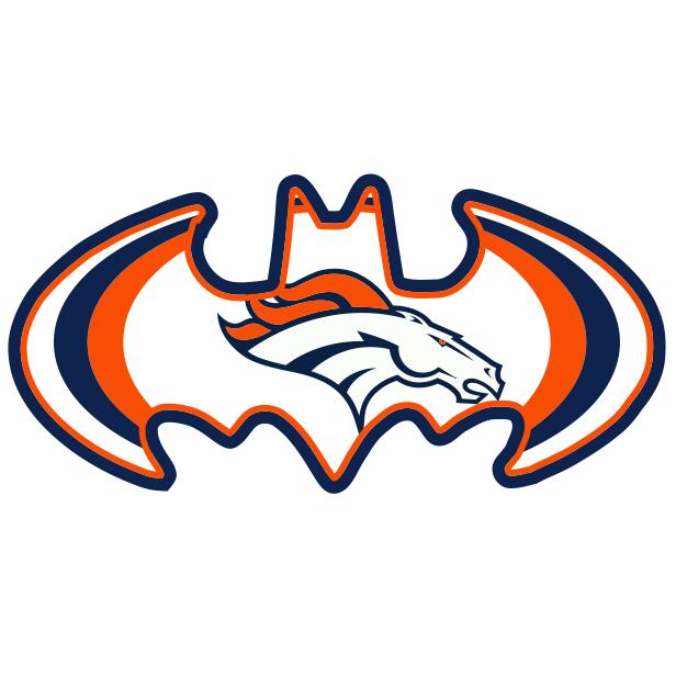 Denver Broncos Batman Logo iron on transfers