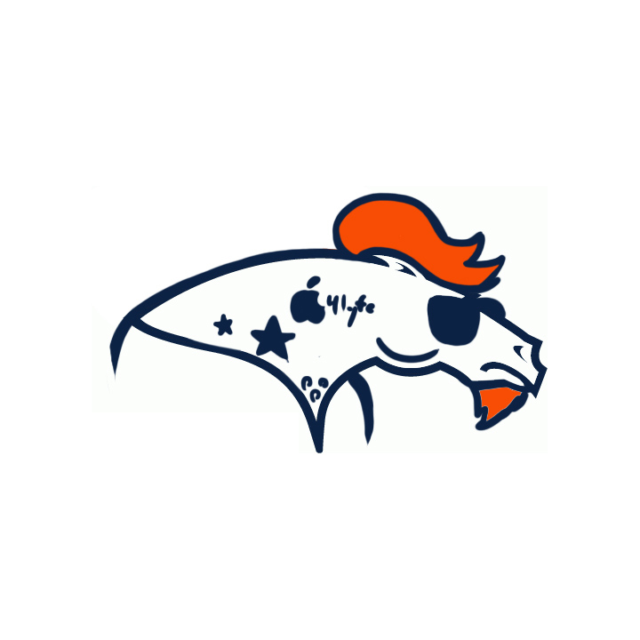Denver Broncos Hipsters Logo iron on transfers