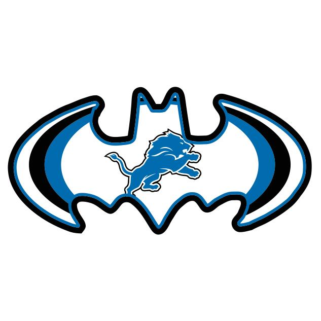 Detroit Lions Batman Logo iron on transfers