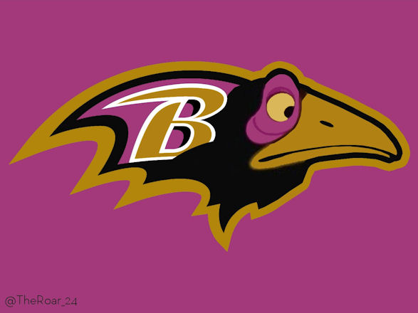 Diablo Maleficent Baltimore Ravens Logo iron on transfers