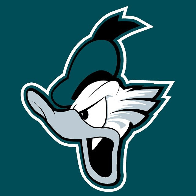 Donald the Philadelphia Eagle logo iron on transfers