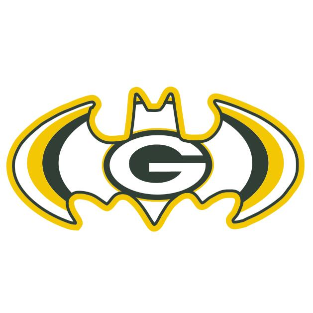 Green Bay Packers Batman Logo iron on transfers