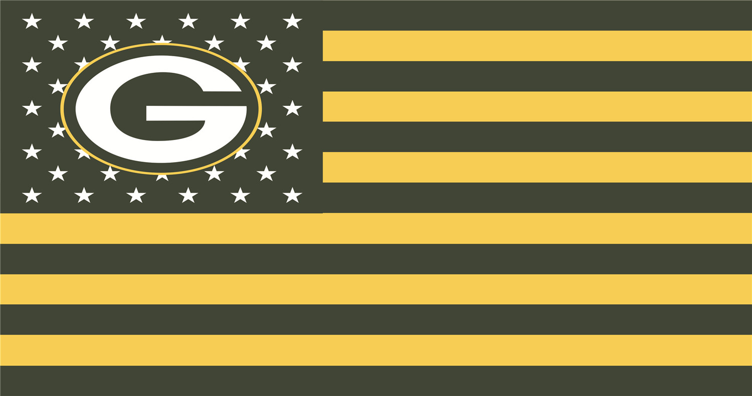 Green Bay Packers Flags iron on transfers