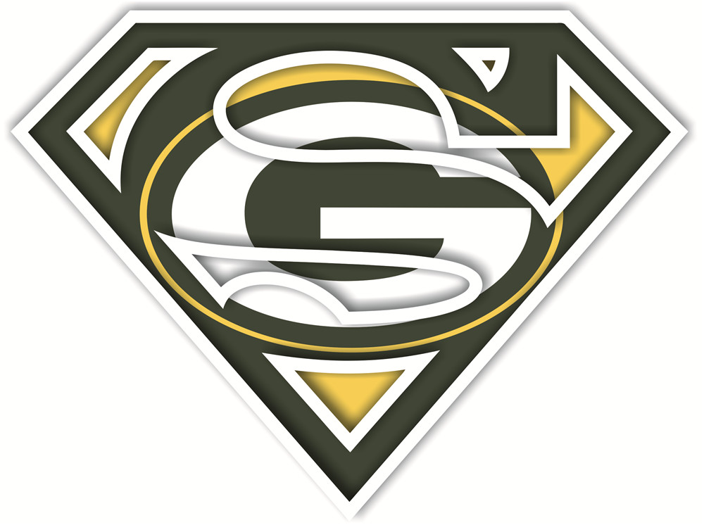 Green Bay Packers superman logos iron on heat transfer...