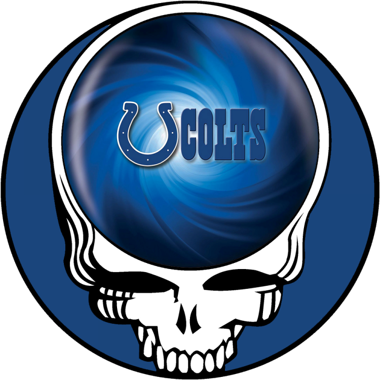 Indianapolis Colts skull logo iron on transfers