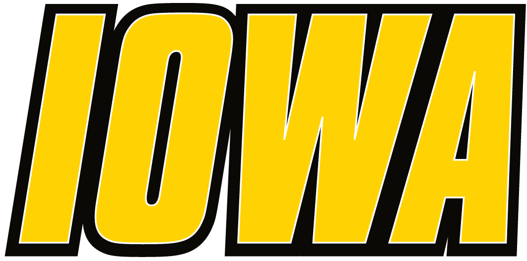 Iowa Hawkeyes 2002-Pres Wordmark Logo fabric transfers