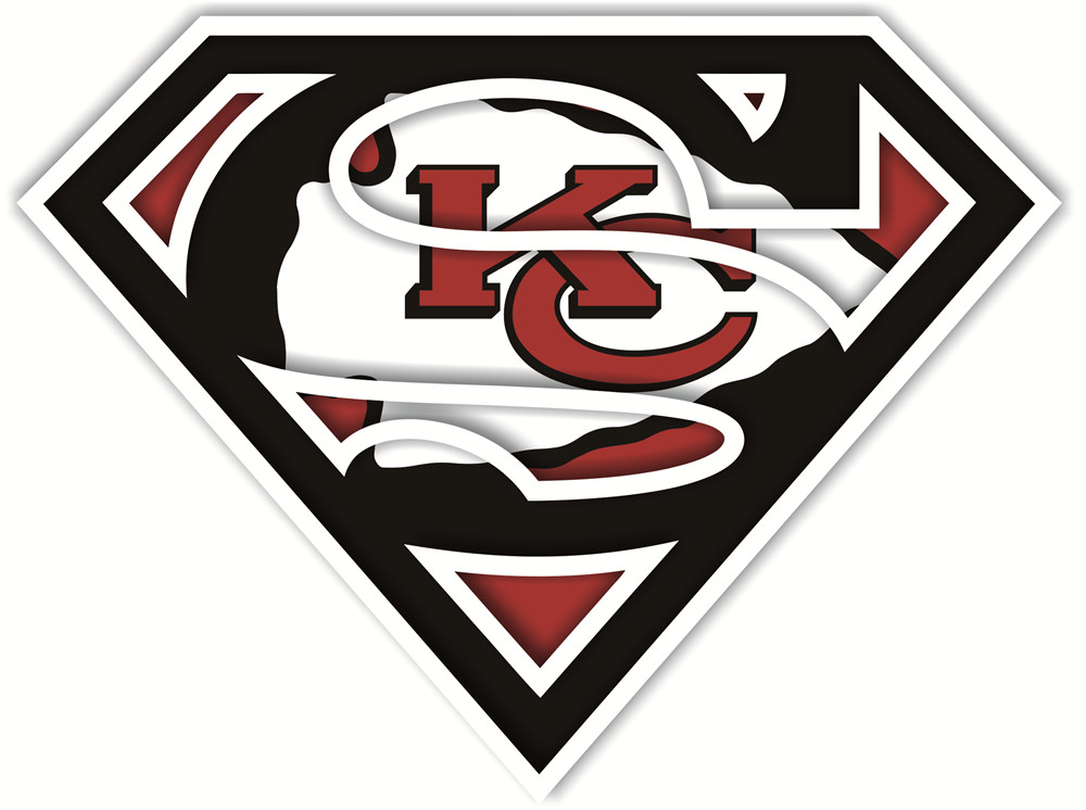 Kansas City Chiefs superman logos iron on heat transfer...