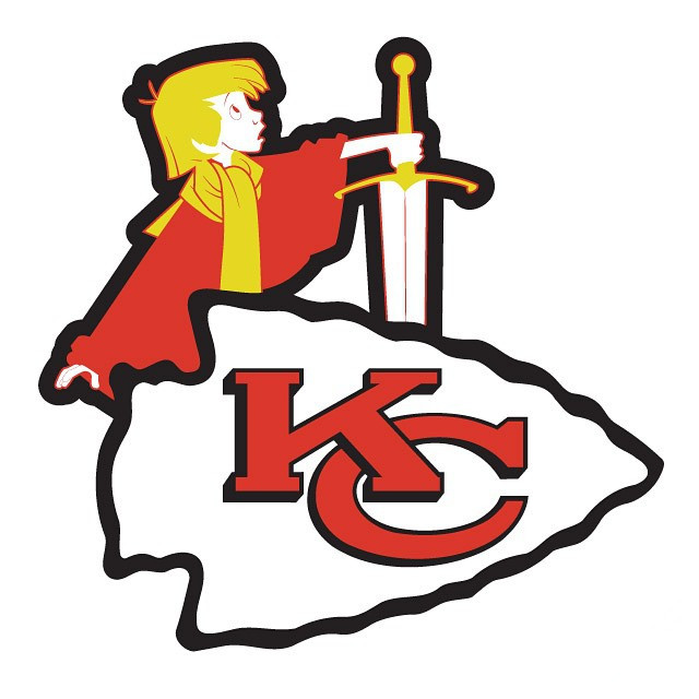 King Arthur of Kansas City logo iron on transfers