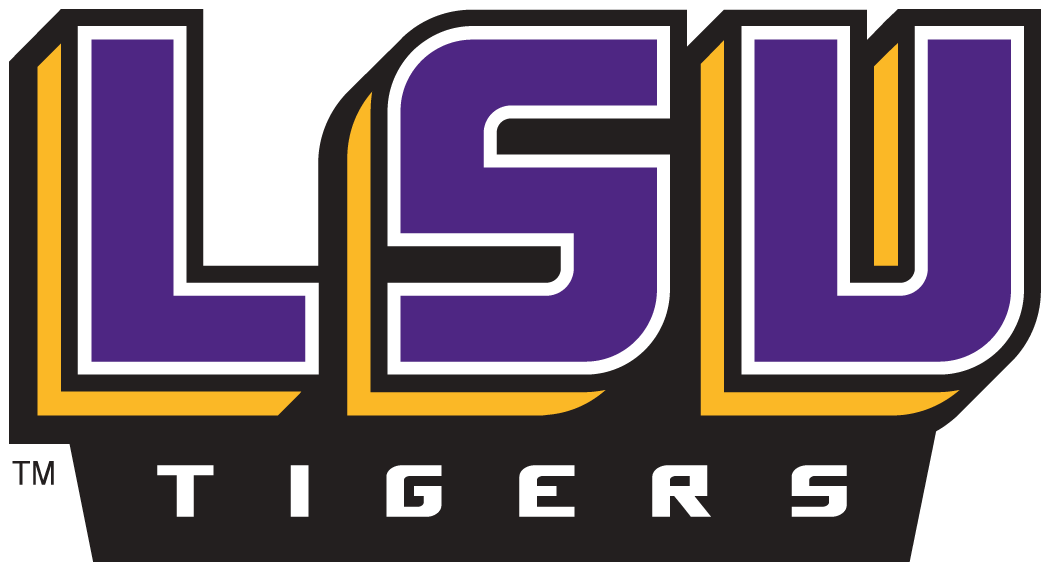 LSU Tigers 2002-Pres Wordmark Logo v2 iron on transfers for clothing