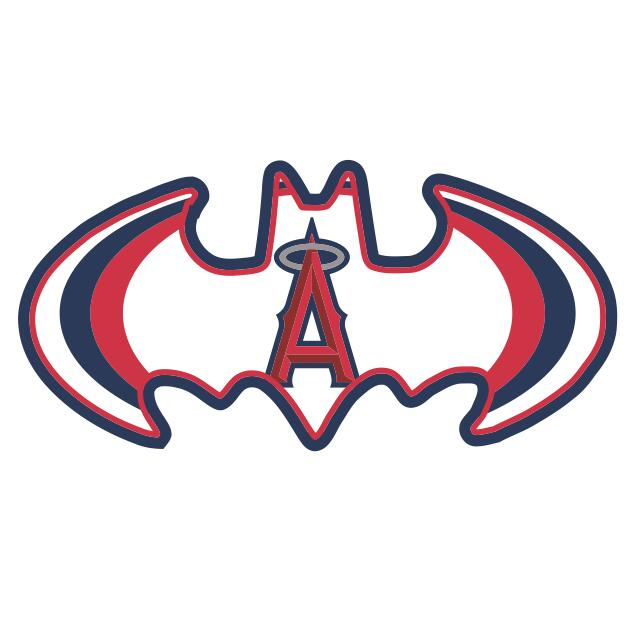 Los Angeles Angels of Anaheim Batman Logo iron on transfers