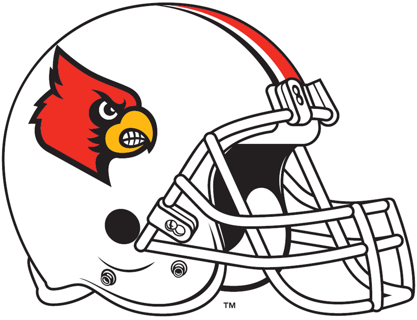 Louisville Cardinals 2009-2012 Helmet Logo iron on transfers for clothing