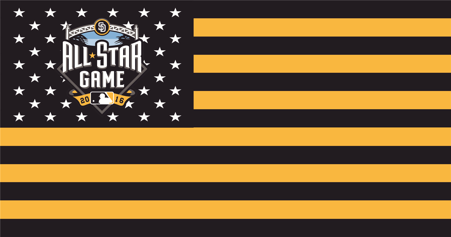 MLB All-Star Game Flags iron on transfers