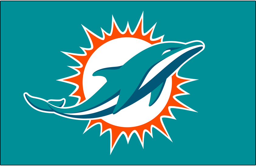 Miami Dolphins 2018-Pres Primary Dark Logo iron on transfers for clothing