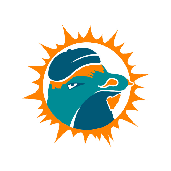 Miami Dolphins Hipsters Logo iron on transfers