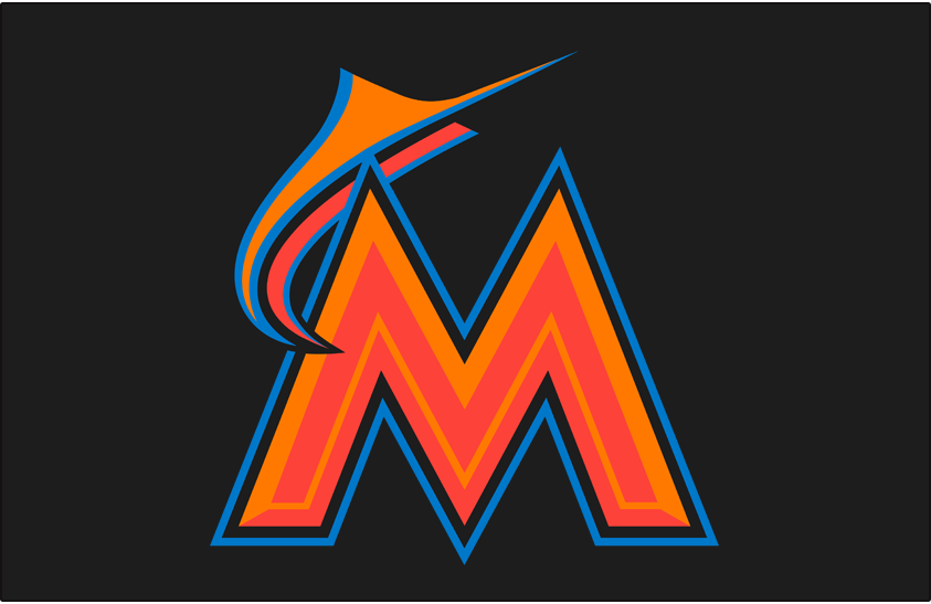 Miami Marlins 2016-2018 Batting Practice Logo iron on transfers for clothing