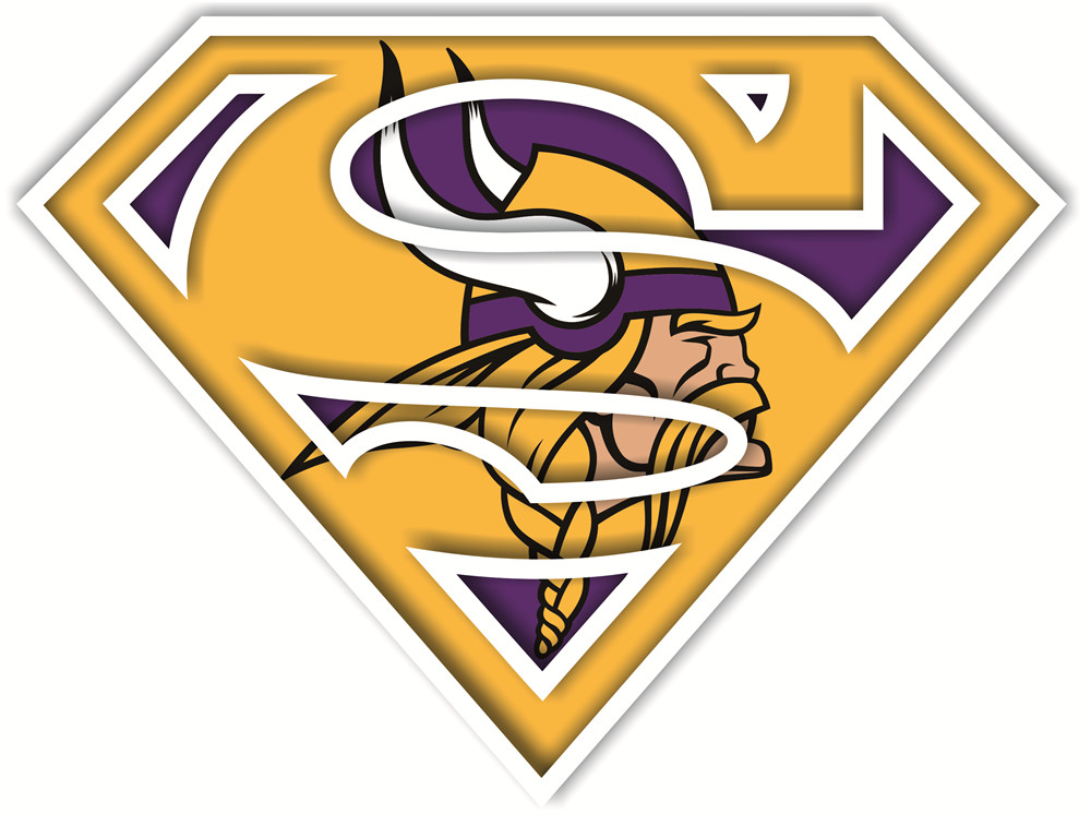 Minnesota Vikings superman logos iron on heat transfer