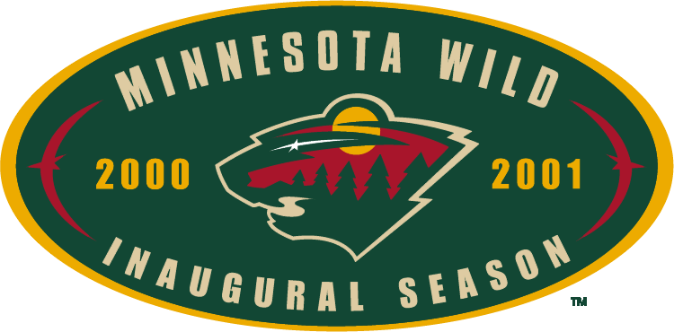 Minnesota Wild 2001 Anniversary Logo iron on transfers for clothing