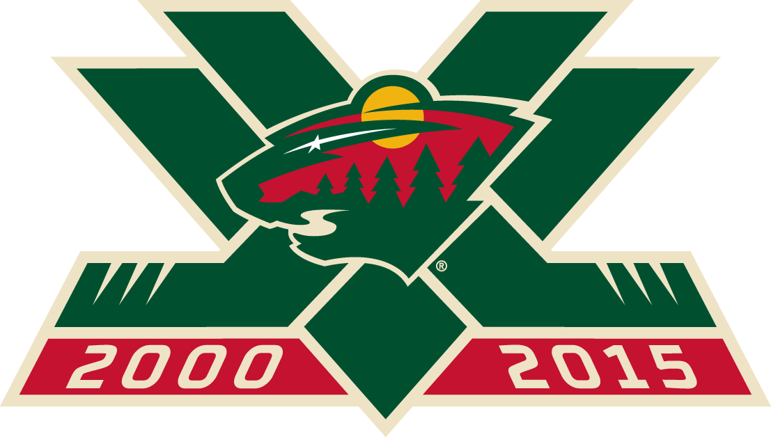 Minnesota Wild 2015 Anniversary Logo iron on transfers for clothing