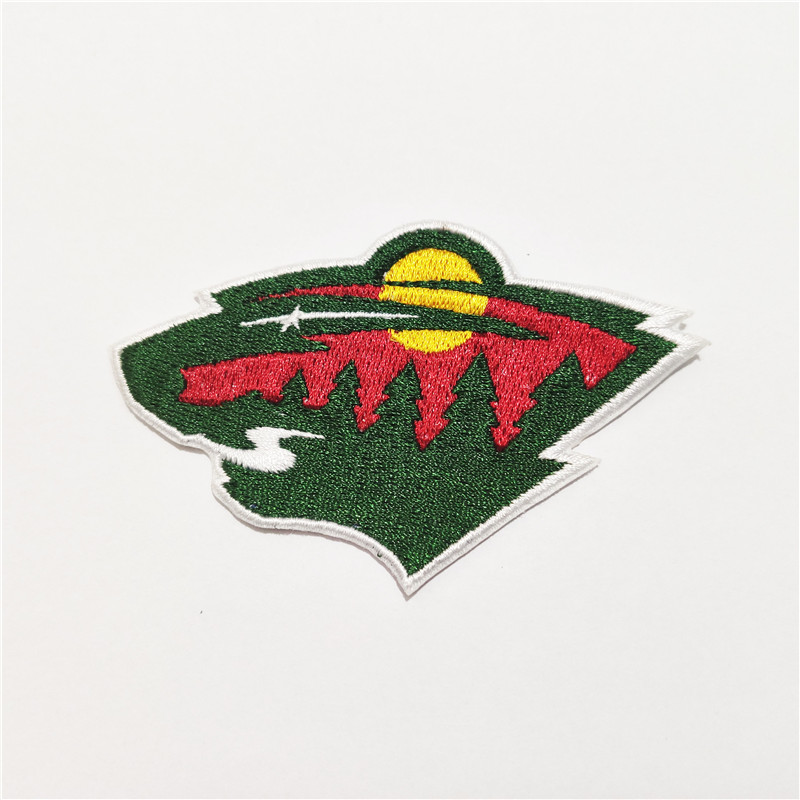 Minnesota Wild Logo Iron-on Patch Velcro Patch 3.5 inches