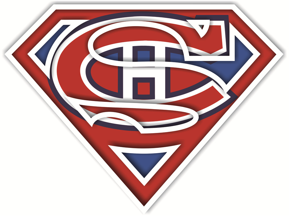 Montreal Canadiens superman logos iron on heat transfer