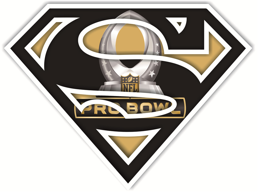 NFL Pro Bowl superman logos iron on heat transfer
