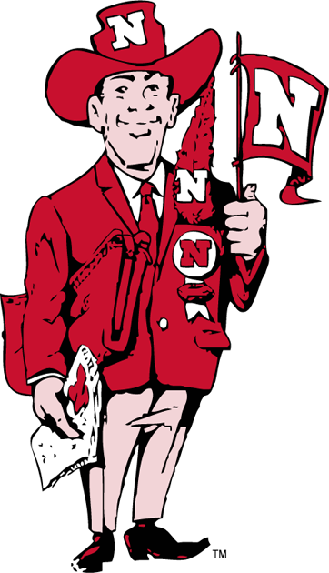 Nebraska Cornhuskers 1962-1973 Mascot Logo iron on transfers for clothing