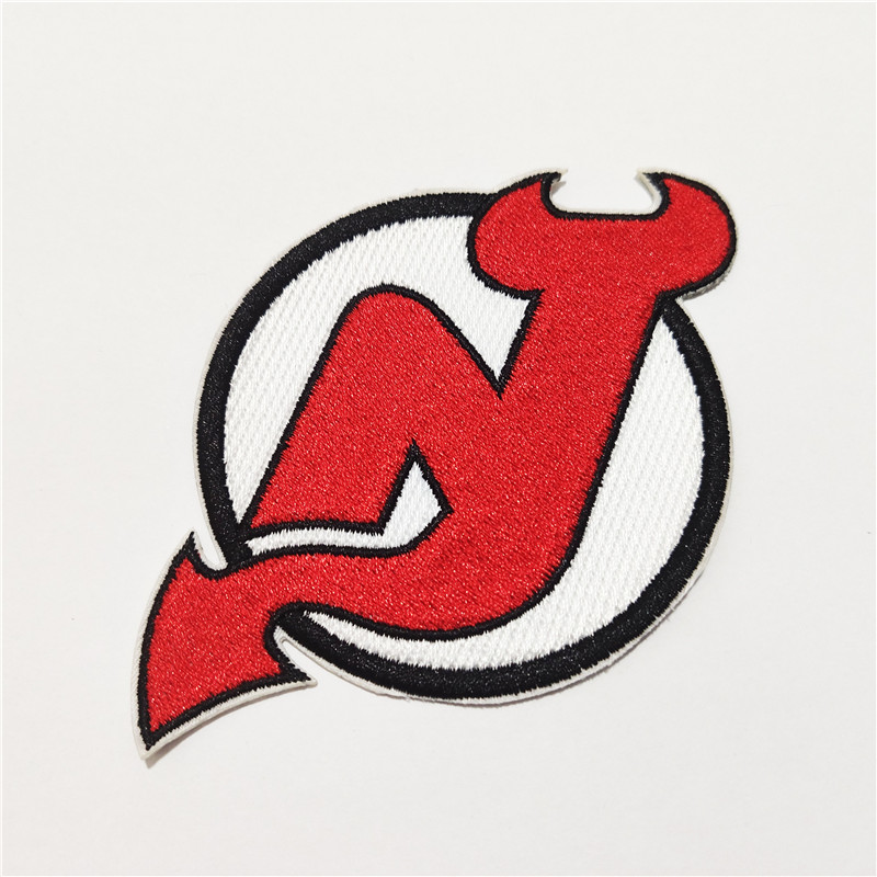 New Jersey Devils Logo Iron-on Patch Velcro Patch 3.5 inches