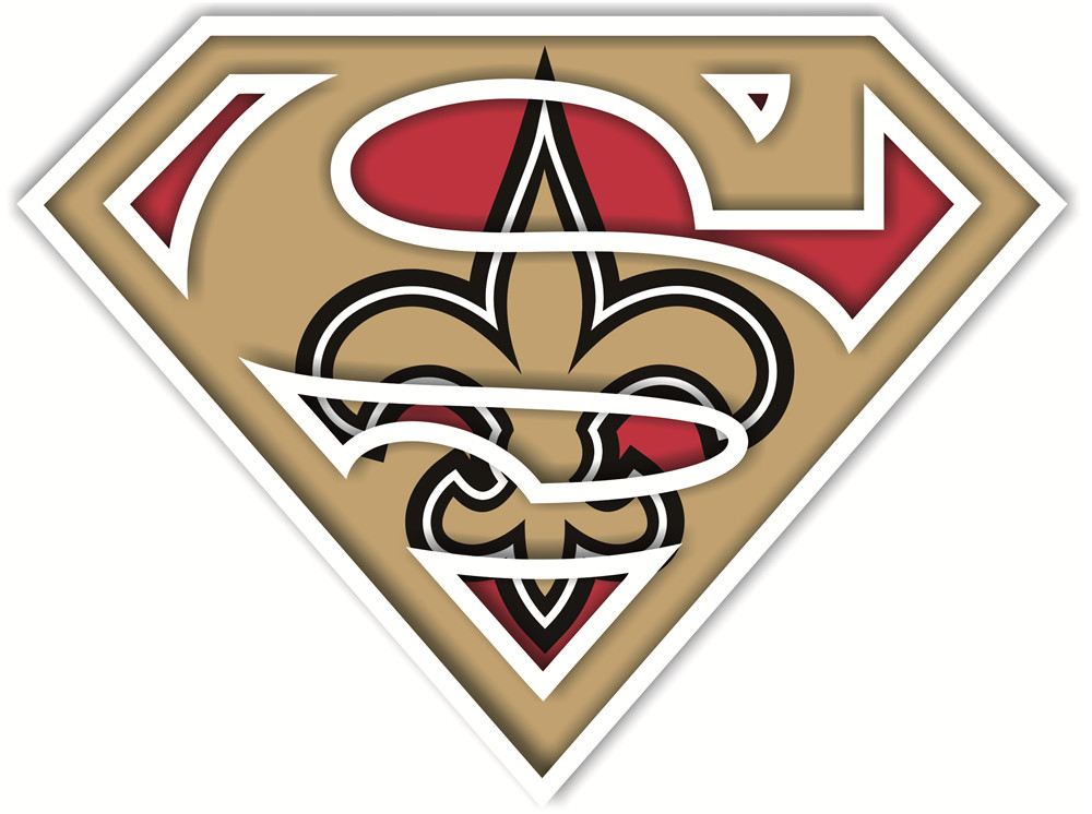 New Orleans Saints superman logos iron on heat transfer