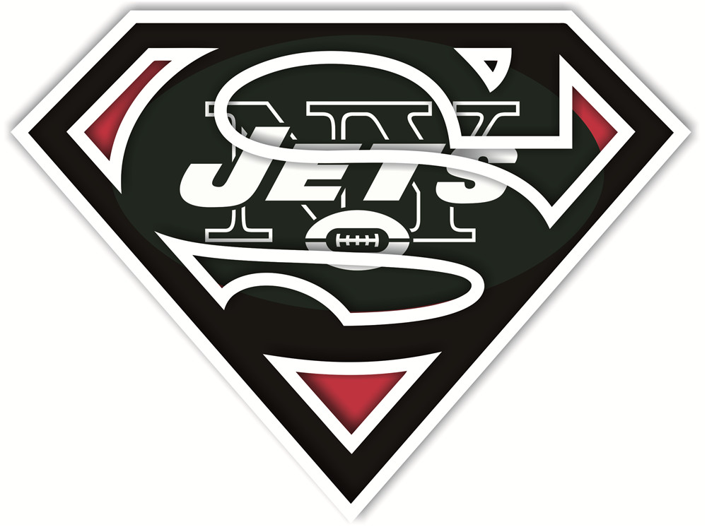New York Jets superman logos iron on heat transfer