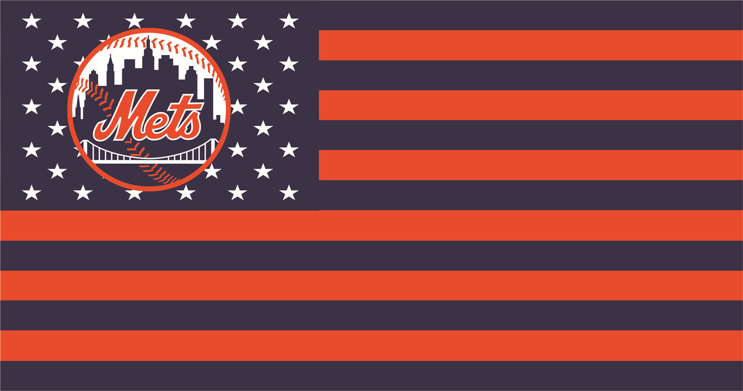 New York Mets Flags iron on transfers