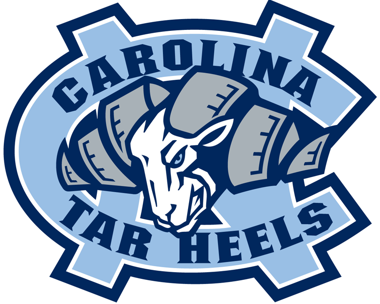 North Carolina Tar Heels 1999-2004 Primary Logo iron on transfers for clothing...