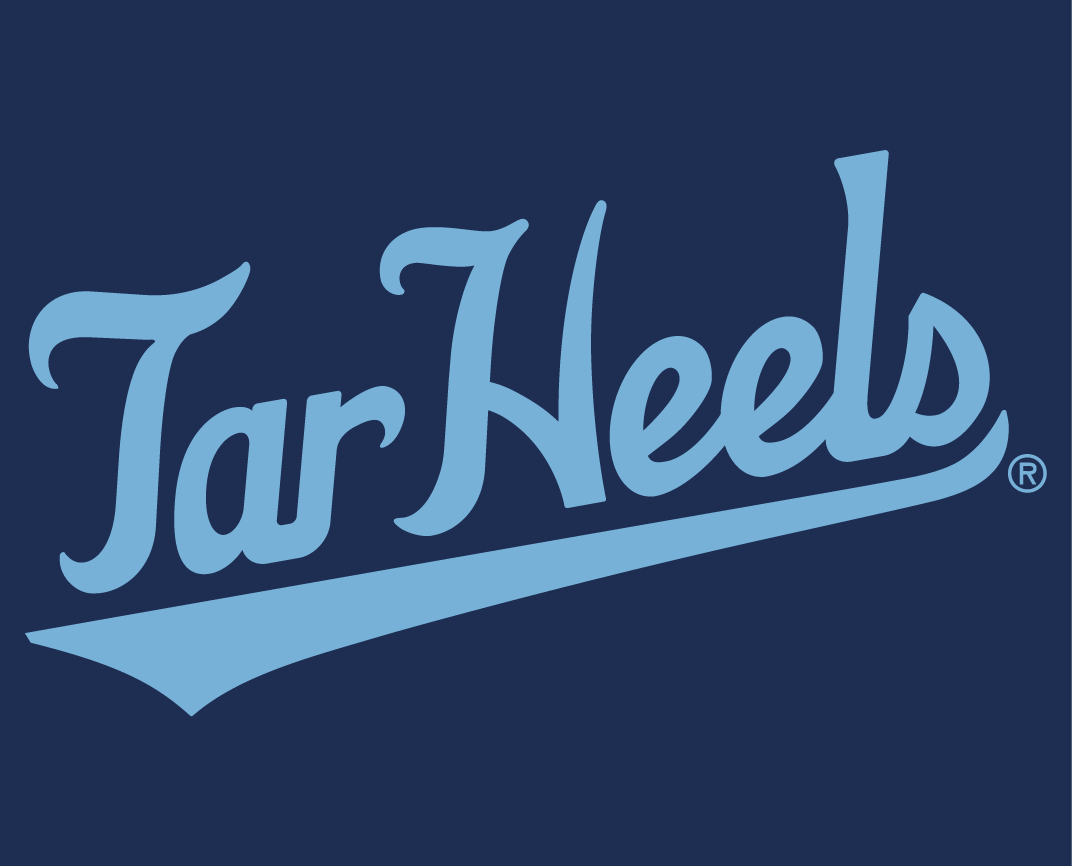 North Carolina Tar Heels 2015-Pres Wordmark Logo v12 iron on transfers for clothing