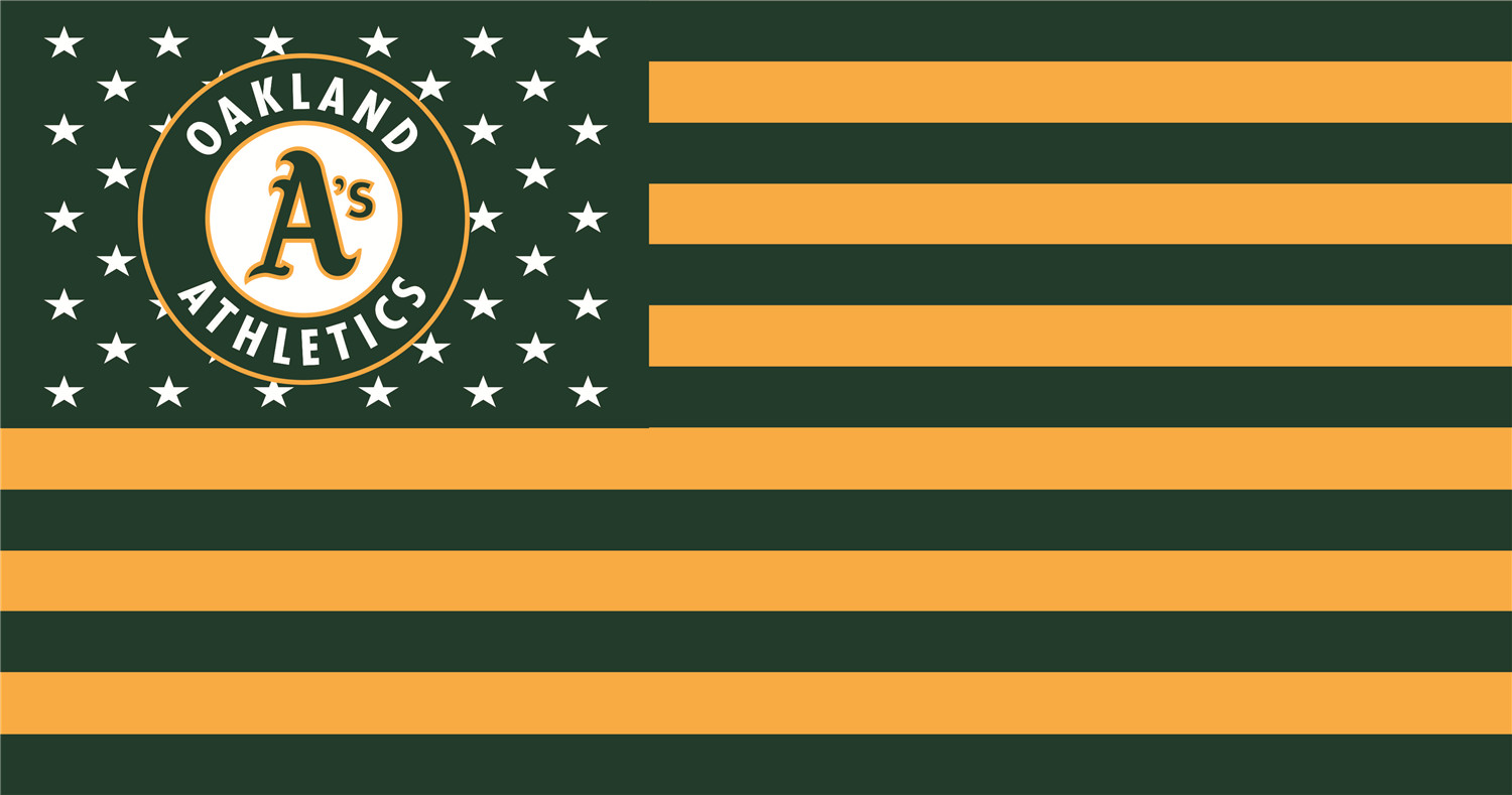 Oakland Athletics Flags iron on transfers