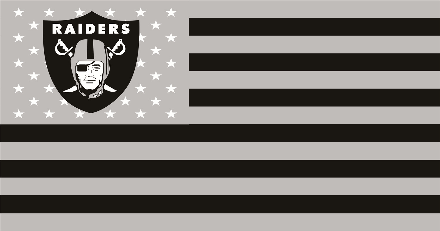 Oakland Raiders Flags iron on transfers