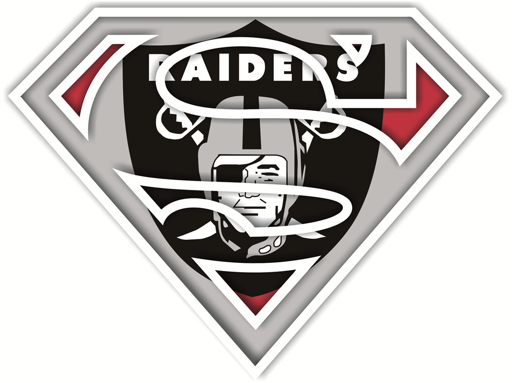 Oakland Raiders superman logos iron on heat transfer