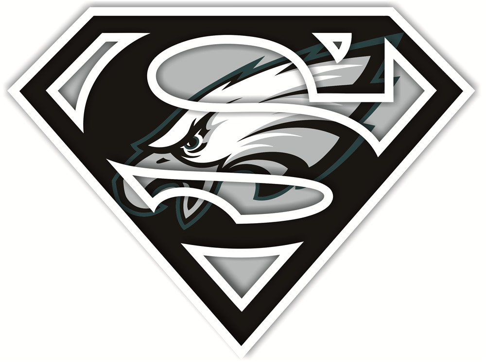 Philadelphia Eagles superman logos iron on heat transfer