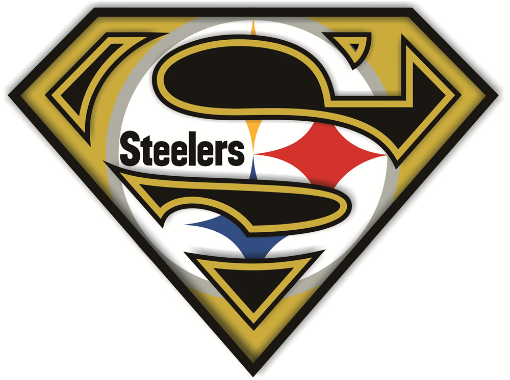 Pittsburgh Steelers superman logos iron on heat transfer v2