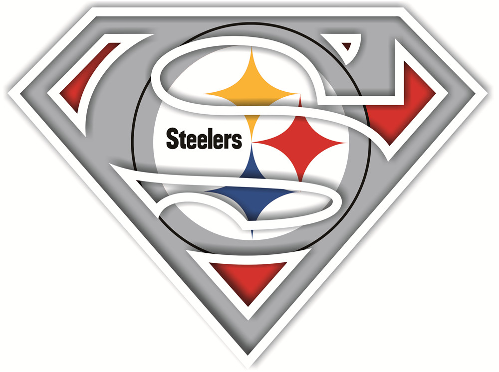 Pittsburgh Steelers superman logos iron on heat transfer