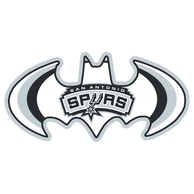 San Antonio Spurs Batman Logo iron on transfers