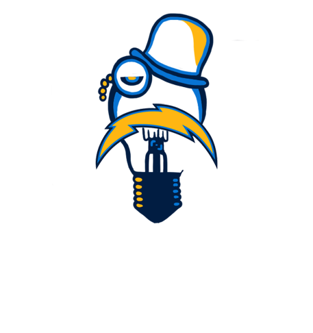 San Diego Chargers British Gentleman Logo iron on transfers